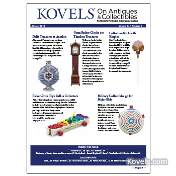 Kovels on Antiques & Collectibles Vol. 44 No. 5 – January 2018