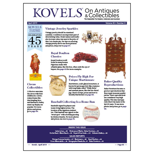 Kovels On Antiques & Collectibles April 2019 Newsletter