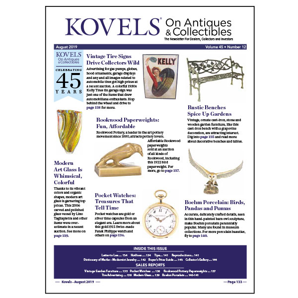 Kovels' August 2019 newsletter cover