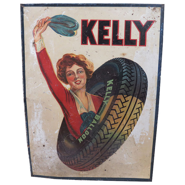 Vintage Tire Signs Drive Collectors Wild
