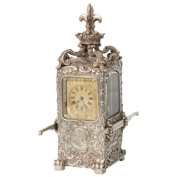 Sedan chair carriage clock