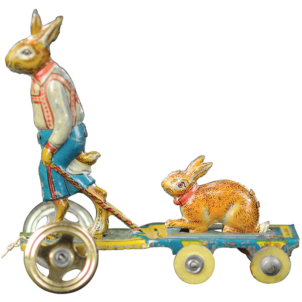 Walking rabbit penny toy