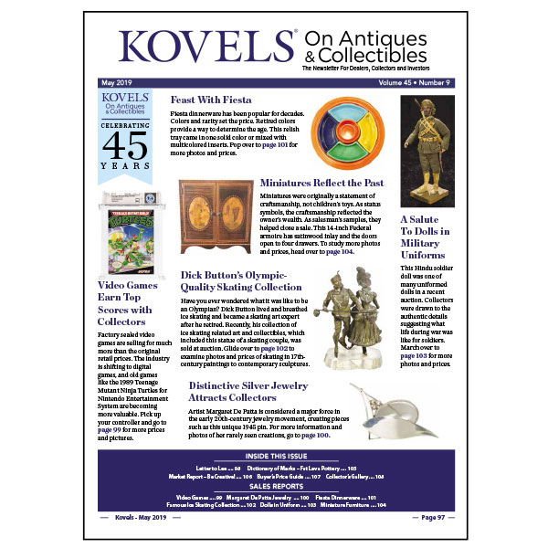 Kovels On Antiques & Collectibles May 2019 newsletter