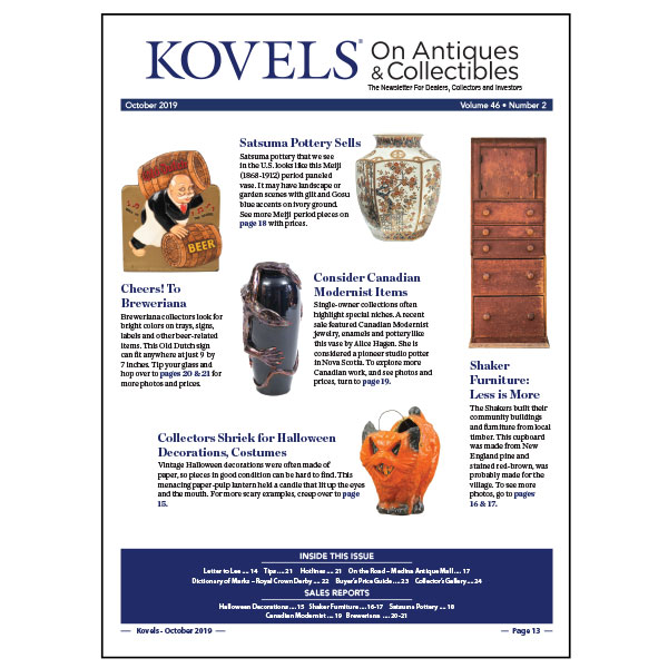 Kovels' October 2019 newsletter