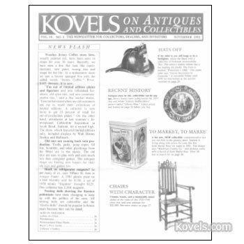 Kovels on Antiques and Collectibles Vol. 19  No.  3 - November 1992