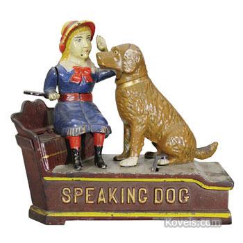 Speaking dog bank