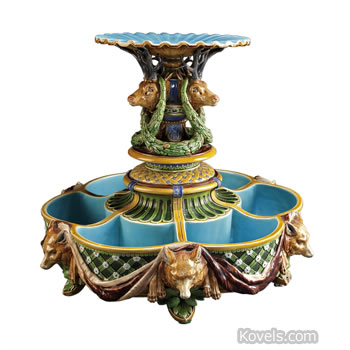 Minton majolica ice stand
