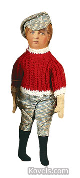 This golfer doll sold at a McMasters Harris auction in Cambridge, Ohio, a while ago for $550. The doll is wearing his original clothes.