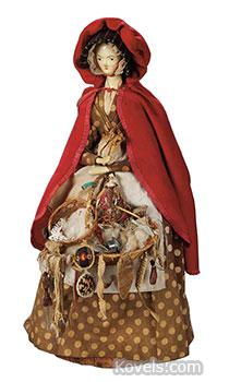 Peg wooden peddler doll