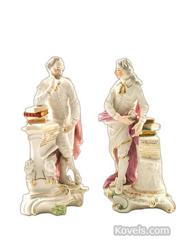 Derby Porcelain figurines - Shakespeare and Milton