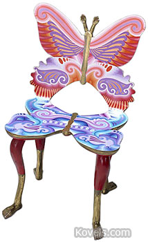 Put butterflies in your living room with this Mariposa chair made in the 1980s. The 35-inch-high chair brought $5,490 at a recent Rago auction in Lambertville, N.J.
