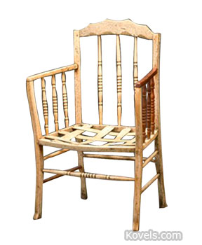 This whalebone chair is probably American. It had mortise and tenon joints and whalebone pins. The style is similar to chairs from the 1810-1830 period. It sold in November at Bonhams in Australia for $56,742.