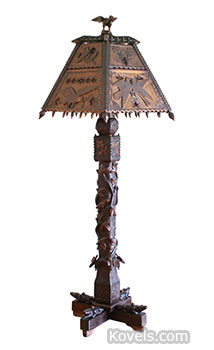 Folk art lamp