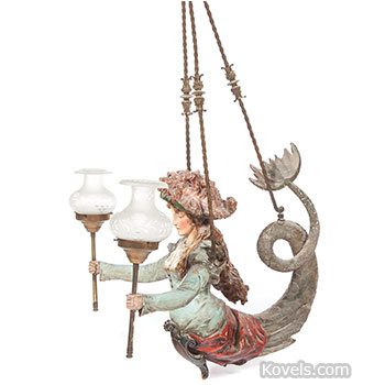 lamp, hanging, mermaid