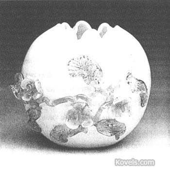 Stevens and Williams made this rose bowl with matsu-no-ke decoration. It is signed S & W. (Picture credit: James Julia Auctions, Fairfield, Me.)