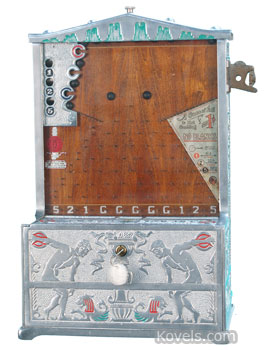 "Coin-operated ""Target Practice"" machine"