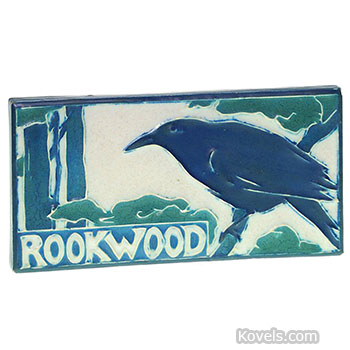 rookwood, plaque, advertising, rook, branch