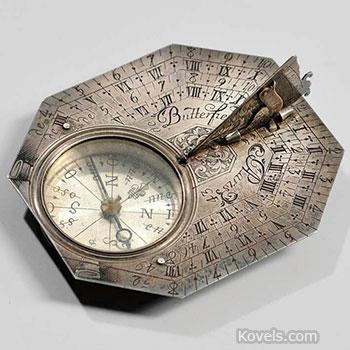 sunddial, silver, 8, sided, michael, butterfield, paris