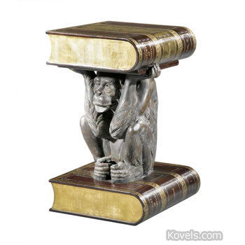 Fantasy table - monkey with book