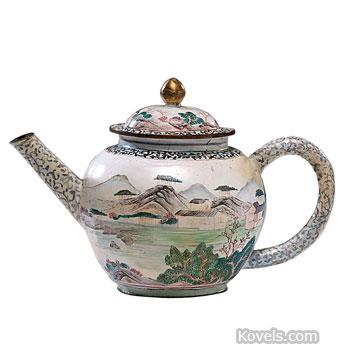 Chinese enamel teapot