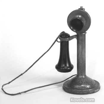 Telephone with Roycroft copper cover