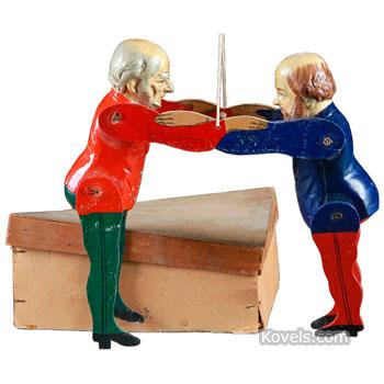 Political figurines - Disraeli and Gladstone
