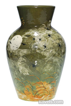 Rookwood vase with spiders