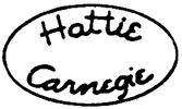 Carnegie costume jewelry mark