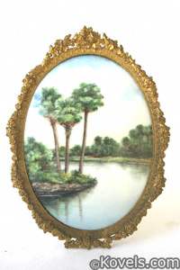 Florida souvenir, porcelain plaque, Olive Commons