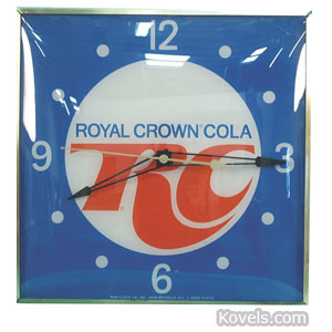 Advertising clock, Royal Crown Cola