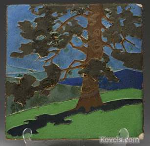 Van Briggle tree tile