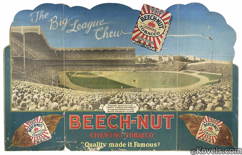 Beech-Nut Chewing Tobacco sign