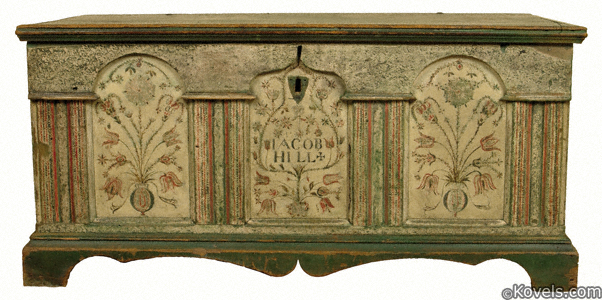 Lancaster County, Pennsylvania, architectural dower chest