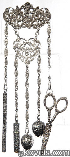 Five-chain all-sterling chatelaine