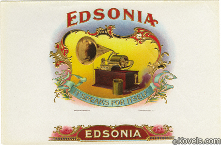 Advertising, cigar label, Edsonia