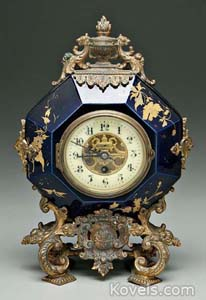 Clock, shelf, ormolu