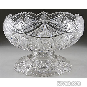 Cut glass punch bowl