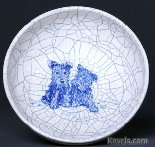 Dedham pottery Scottish Terrier bowl