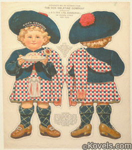 Uncut cloth dolls, Cox Gelatin Boy