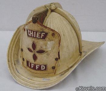 White Cairns aluminum fire helmet
