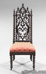 Chair, Gothic Revival, rosewood