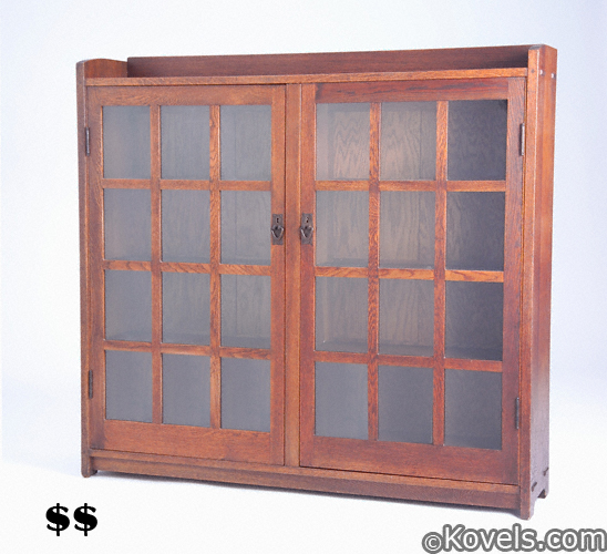 Gustav Stickley two-door bookcase