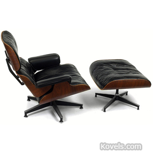Furniture, chair, ottoman,Eames