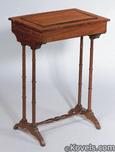 Victorian rosewood trestle table with jardinière