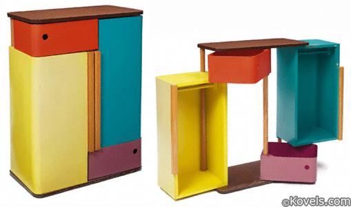Henry Glass Swingline Cabinet interior