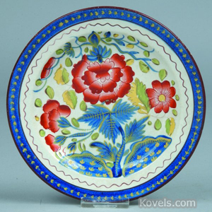 Gaudy Dutch Carnation plate
