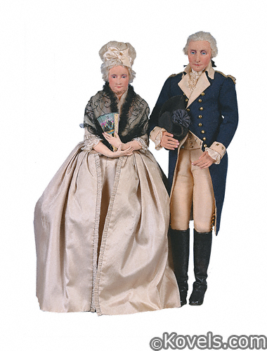 Martha and George Washington Heizer dolls