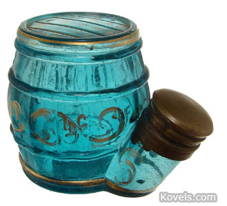 Teakettle barrel inkwell