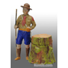 Boy Scout by tree stump inkwell