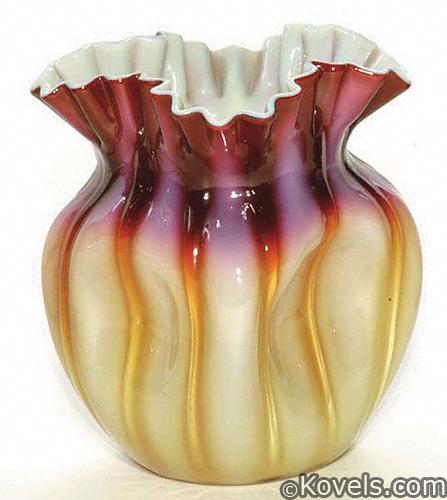 Plated amberina vase